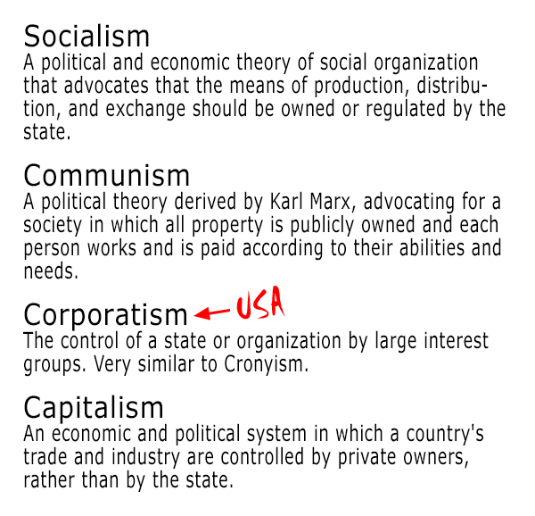 Political economic labels