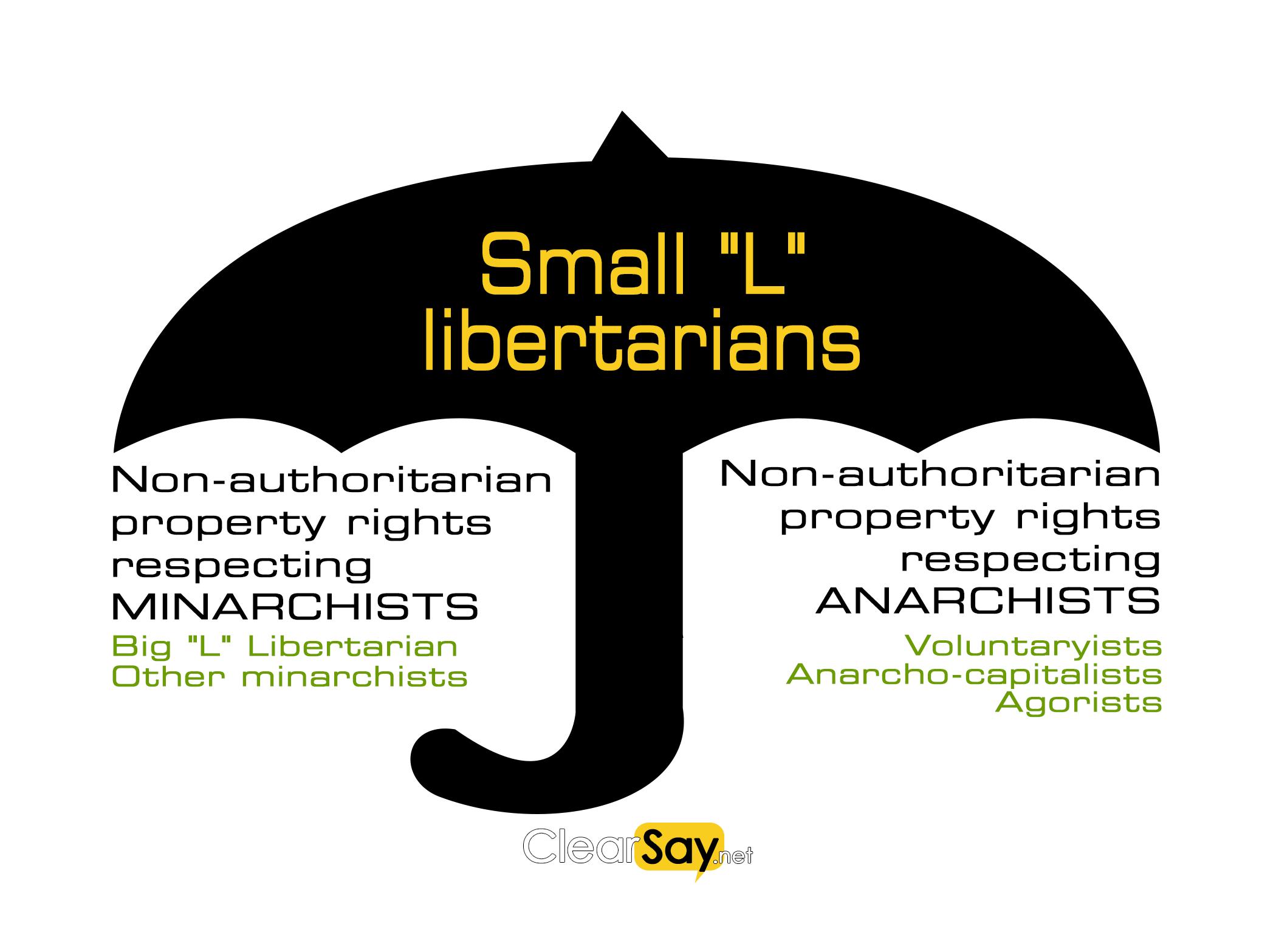 Types of libertarians