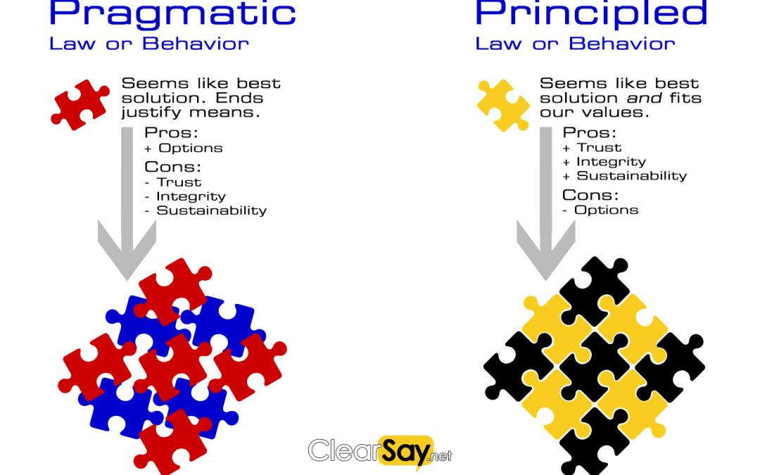 Pragmatic v Principled